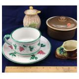 Royal Copley Shoe and Assortment of Dishes