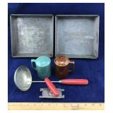 2 Antique Swans Down Cake Flour Pan and More