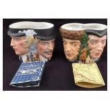 Vintage Avon Collector Character Toby Mugs