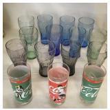 15 Coca Cola Glasses Consisting Of 2 Types