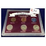Packaged Coins From Rare Coins Of the 20th