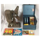 Revere 8mm Projector & 8mm Films