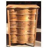 Antique oak five drawer dresser