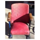 Antique movie theater row end seat