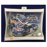 Boxed NASCAR Rusty Wallace Wall Clock