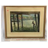Framed Nautical Watercolor Art