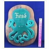"Wooden Octopus ""Head"" Sign"