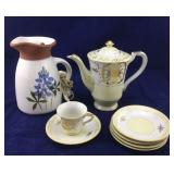 Partial Vintage Coffee Serving Set and Pottery
