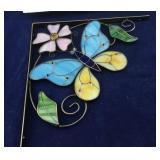 Pair of Boxed Stained Glass Butterfly Corner