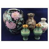 Oriental Vases & Small Cloisonné Vases