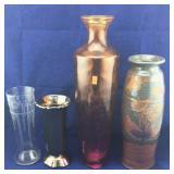 Four Decorative Vases