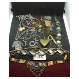 Assorted costume jewelry lot
