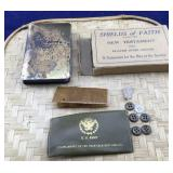 Small Boxed WWII Steel Cover Bible and Partial