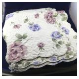 Lightweight Machine Quilted Green and Violet
