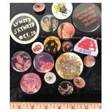 Assortment of Vintage Music Acts Pin Button