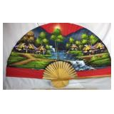 Large Handpainted Decorative Fan