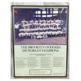 1955 Brooklyn Dodgers World Champions Poster