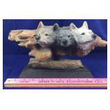 Resin Wolf Sculpture