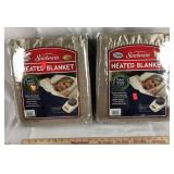 2 Twin Size Heated Blankets - Brand New