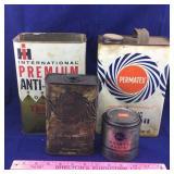 Vintage Jack Oil & Antifreeze Cans