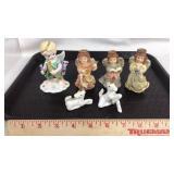 4 Angel Figurines and 2 Unicorn Figurines