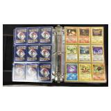 Large Collection of Pokémon Cards in Binder