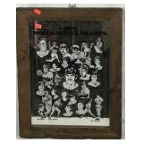 1978 World Champs NYY Mirrored Wall Hanging