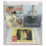2 Tin Signs and 1 Movie Advertisement