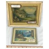 Two Early Framed Advertising Thermometers
