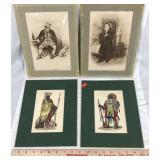 4 Old Prints