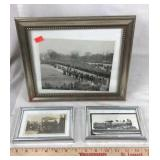 3 Old Photographs with Frames