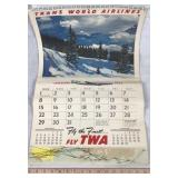 1956 Trans World Airlines Calendar