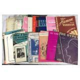 Assortment of Vintage Music Sheet Books