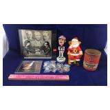 American Flag Pins, Ceramic Santa, Bobblehead