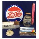 Vintage Bugler Cigarette Roller, Charles Co. Crock