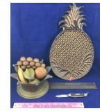 Metal Pineapple Tray, Brass Fruit Bowl & More