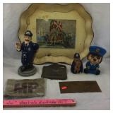 Vintage Maryland Founding Tray & Police Figures