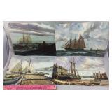 Four Gordon Grant Watercolor Prints