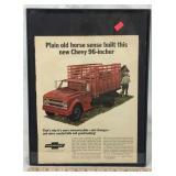 Framed 1967 Original Chevy Truck Ad