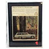 Framed 1960s Chevy Bel Air Station Wagon Ad