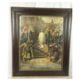 Large Framed Lithograph - Jesus Condemned
