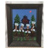 Framed Hand Painted Cossack Art