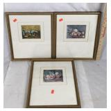 Three Framed Still Life Painting Prints