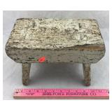 Primitive Wooden Footstool
