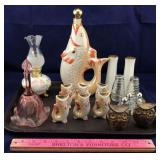 Fenton Bell and Oriental Sake Set and More