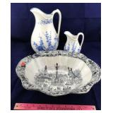 3 Pieces of Transferware
