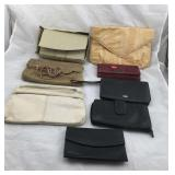 Lot of 8 Mostly Leather Clutches and wallets