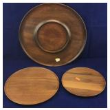 Wooden Platter and Plates