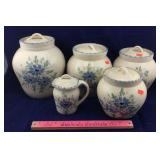 Pottery Flour & Sugar Pot Set