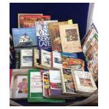 Large collection of cookbooks